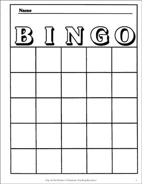 It's just a graphic of Simplicity Printable Bingo Board