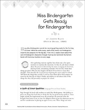 miss bindergarten gets ready for kindergarten teaching with favorite books - Kindergarten Printable Books