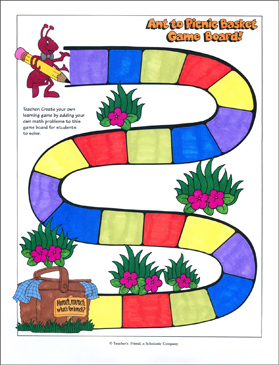 ant to picnic basket game printable games and puzzles