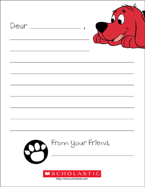 clifford stationery printable lined stationery
