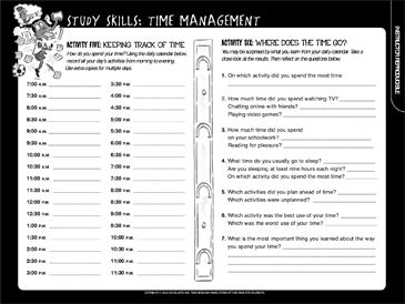 Study skills time management printable student organizers logs study skills time management ibookread PDF