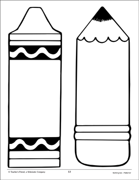 Inventive image intended for printable crayon template