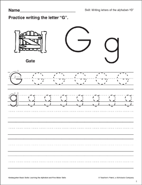 Letter g letter formation practice kindergarten basic skills letter g letter formation practice kindergarten basic skills spiritdancerdesigns Image collections