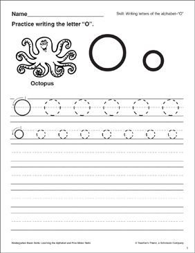 Letter o letter formation practice kindergarten basic skills letter o letter formation practice kindergarten basic skills spiritdancerdesigns Image collections