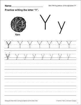 Letter y letter formation practice kindergarten basic skills letter y letter formation practice kindergarten basic skills spiritdancerdesigns Image collections