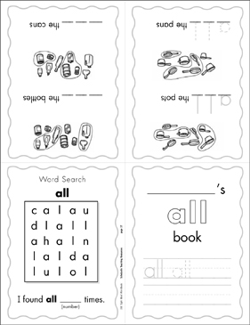 image about Sight Word Book Printable named The Sight Phrase \u201get hold of\u201d (Issue 1) Mini-Guide Printable Mini-Publications