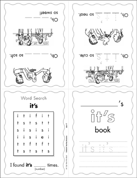 graphic regarding Sight Word Book Printable named The Sight Term \u201cits\u201d (Stage 2) Mini-Ebook Printable Mini-Guides