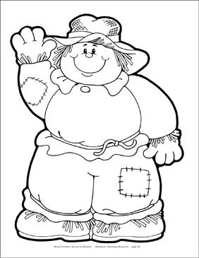 picture regarding Scarecrow Pattern Printable identify Scarecrow (BW) Reproducible Behavior Printable Clip Artwork