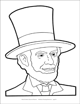 Abraham Lincoln Reproducible Pattern Printable Clip Art And Images