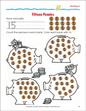 photograph about Printable Pennies named 15 Pennies (Deciding 15) Printable Competencies Sheets