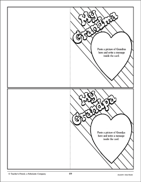 grandparents day cards craft activity printable arts crafts and