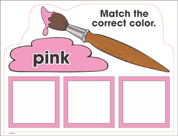 Pink Color Mats Match Trace Write