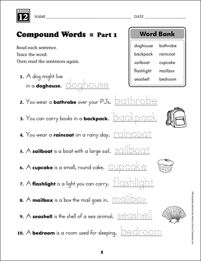 Compound words grade 1 vocabulary printable skills sheets compound words grade 1 vocabulary ibookread Read Online
