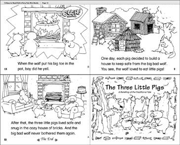 The Three Little Pigs Printable Mini Books