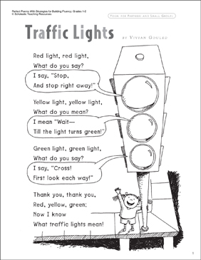 Traffic Lights (Fluency-Building Read-Aloud Poem) | Printable Texts