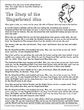 Dramatic image with regard to gingerbread man story printable