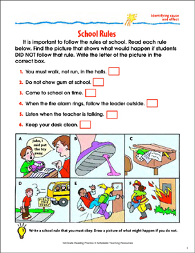 School Rules Freebie! (Classroom Freebies) | Group activities ...