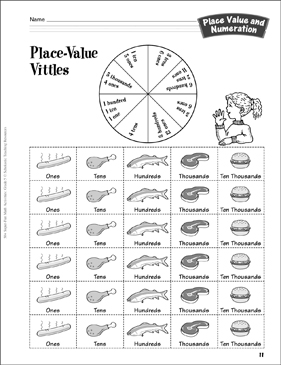 picture about Printable Place Value Game titled Point-Importance Vittles (position relevance and regrouping): Room