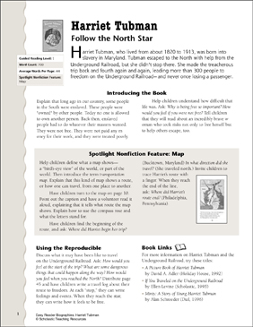 Harriet Tubman: Lesson Plan \u0026 Activity Page