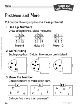 picture regarding Logic Problems Printable referred to as Difficulties and Much more (quality 1): Puzzle and Logic Issues