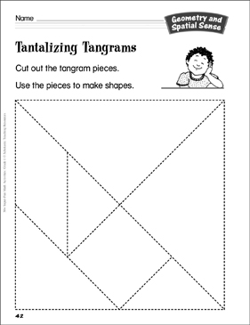 image about Tangram Puzzles Printable titled Tantalizing Tangrams (creating tangram designs): Geometry and