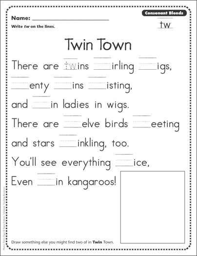 Twin town consonant blends tw phonics poetry page printable twin town consonant blends tw phonics poetry page ibookread ePUb