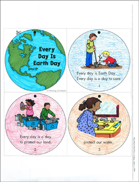 every day is earth day mini book - Printable Picture Books