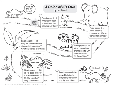 A Color of His Own: Reading Response Map | Printable Book Reports ...