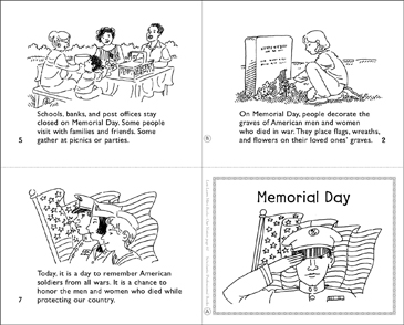 image regarding Printable Mini Book referred to as Memorial Working day Mini-Reserve Printable Mini-Guides