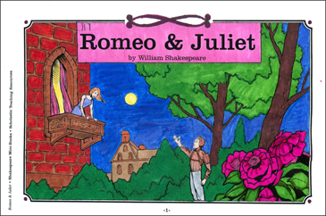 Shakespeare Comics Romeo Amp Juliet Printable Mini Books