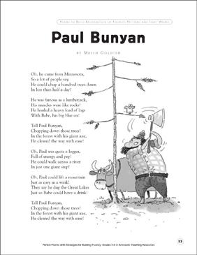 Tall Tales: Paul Bunyan | Worksheet | Education.com
