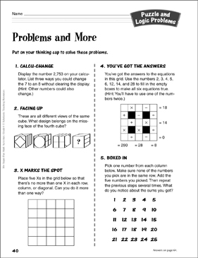 image relating to Logic Problems Printable identify Challenges and Extra: Puzzle and Logic Disorders Recreation