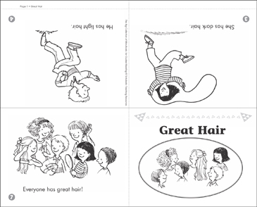 image relating to Printable Mini Books named Exceptional Hair: Mini-E-book for Guided Reading through (Issue B