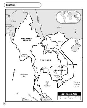 Southeast Asia Map | Printable Maps and Skills Sheets