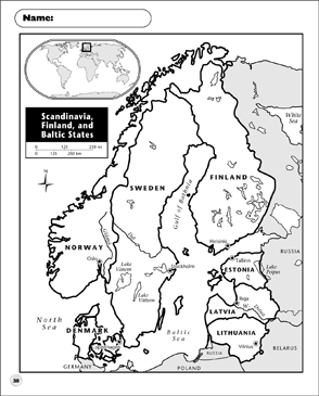 graphic relating to Scandinavia Map Printable identified as Scandinavia, Finland, and Baltic Suggests Map Printable Maps