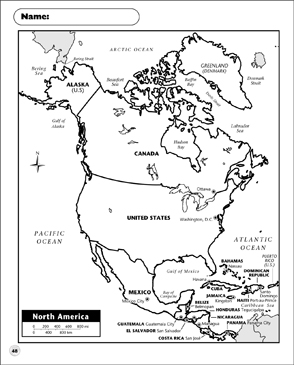 Crush image in printable north america map