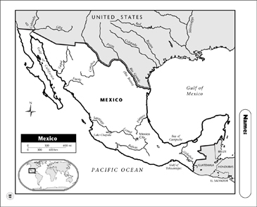 Mexico Map Printable Maps And Skills Sheets