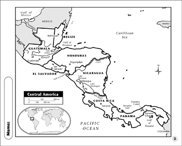 Central America Map | Printable Maps and Skills Sheets