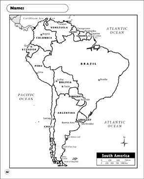 Versatile image throughout printable south america maps
