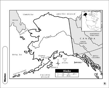 Alaska Map | Printable Maps and Skills Sheets