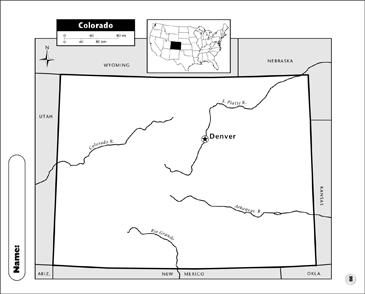 Colorado Map   Printable Maps and Skills Sheets