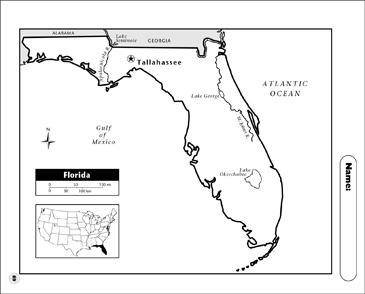 Florida Map Printable Maps And Skills Sheets