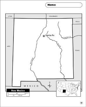 photo relating to Printable Map of New Mexico named Refreshing Mexico Map Printable Maps and Techniques Sheets