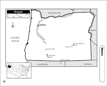 Printable Oregon Map.Oregon Map Printable Maps And Skills Sheets
