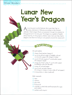 lunar new years dragon winter art project