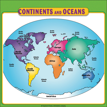 This is an image of Critical Printable Continents and Oceans