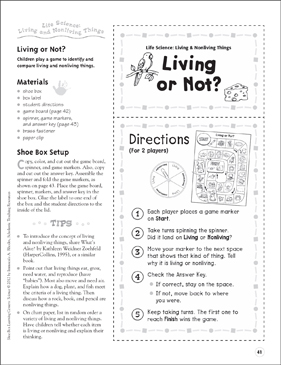 Living And Nonliving Things Life Science Shoe Box Learning Center