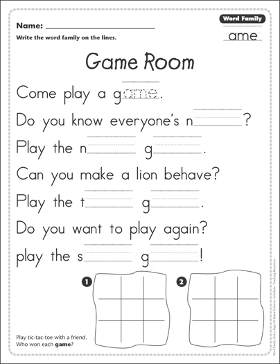Game room word family ame word family poetry page printable game room word family ame word family poetry page ibookread Download
