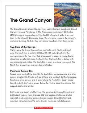 The Grand Canyon Text Amp Organizer Printable Graphic