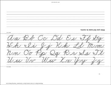 Cursive Handwriting Name Plate